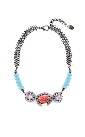 Luzie Lavender Necklace | Collar Luzie Lavender - Ela Design Studio
