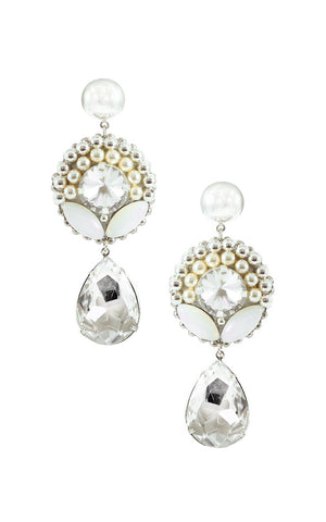 Victtoria Silver Drop Earrings | Aretes de Lagrima Victoria Plateado