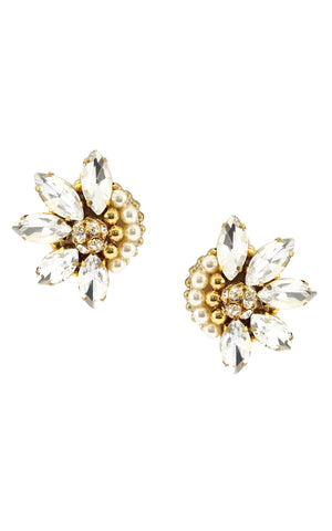 Yeli Gold Clip On Earrings | Aretes Yeli Dorado