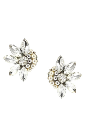 Yeli Silver Clip On Earrings | Aretes Yeli Plateado