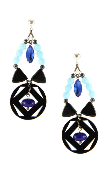Yvonne Midnight Earrings | Aretes Yvonne Midnight