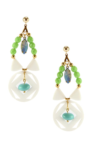 Yvonne Seafoam Earrings | Aretes Yvonne Seafoam