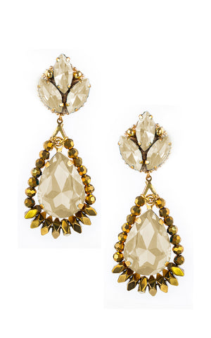 Elaine Gold Teardrop Earrings | Aretes de Lagrima Elaine Dorado