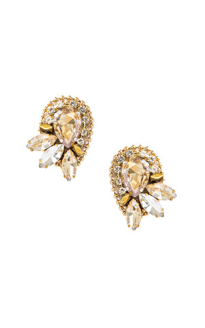 Gigi Gold Clip On Earrings | Aretes de presión Gigi Dorado