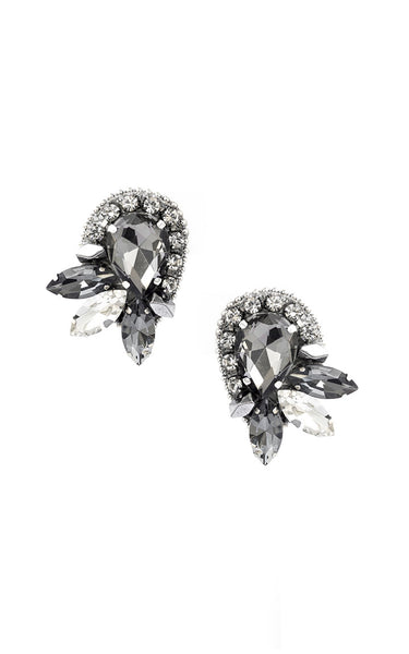 Gigi Silver Clip On Earrings | Aretes de presión Gigi Plateado