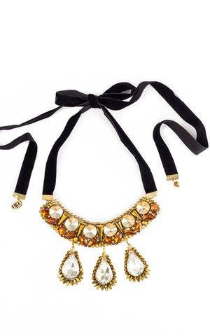 Leandra Golden Necklace | Collar Leandra Dorado