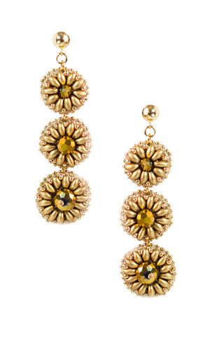 Marly Gold Earrings | Aretes Marly Gold - Ela Design Studio