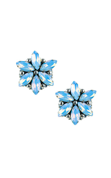 Rossie Blue Opal Clip-on Earrings | Aretes de presión Rossie Azul Opal