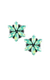 Rossie Mint Clip-on Earrings | Aretes de presión Rossie Verde Mint
