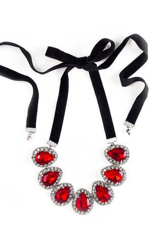 Rubine Red Necklace | Collar Rojo Rubine