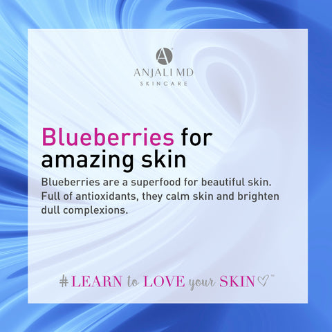 Skin benefits of blueberries
