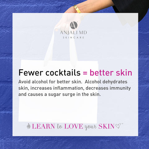 Drink less alcohol for better skin