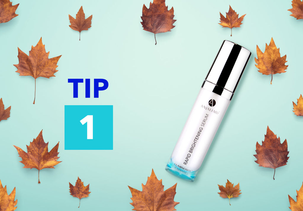 Tip 1 on Leafy Background with Rapid Brightening Serum