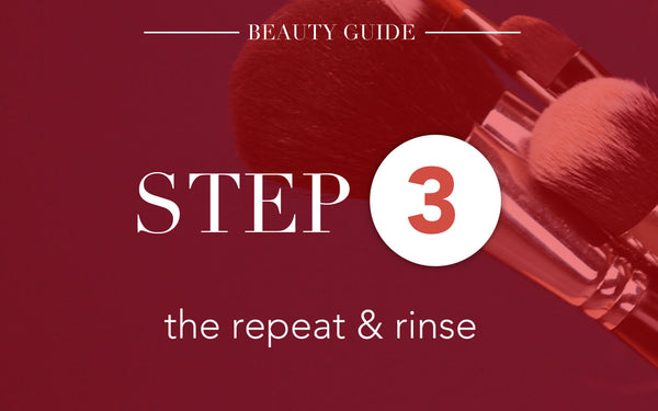5 Steps To Clean Make Up Brushes-Step 3:The Repeat and Rinse