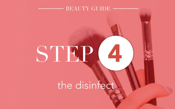 5 Steps To Clean Make Up Brushes-Step 4:The Disinfect