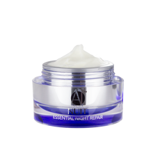ANJALI MD Brightening Retinol Night Cream without the cap and with the cream peaking over the top.
