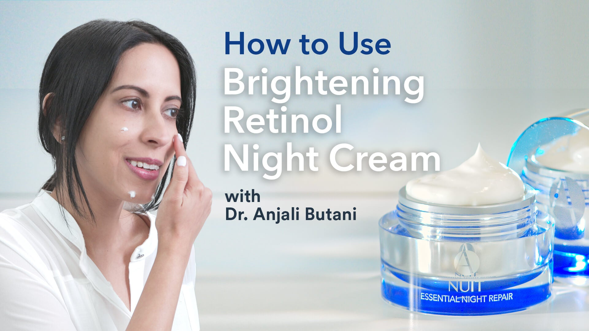 Brightening Retinol Night Cream How To Use Video