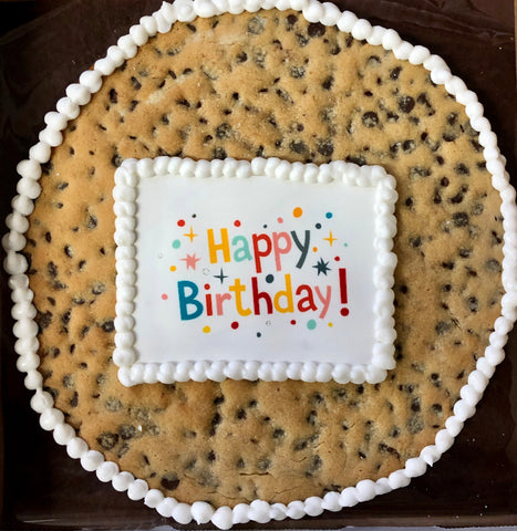 "12"" Round Giant Cookie with Printed Message / Art"