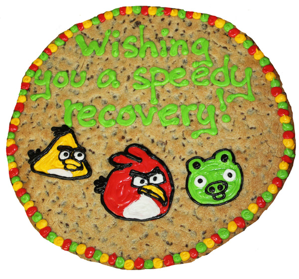 Angry Birds Speedy Recovery Giant Cookie by Cookiegrams.com