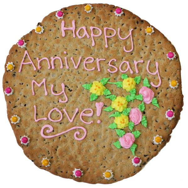 Happy Anniversary Giant Cookie Cake by cookiegrams.com