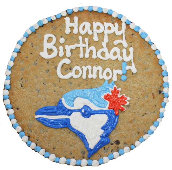 "16"" Round Giant Cookie with Blue Jays Logo by cookiegrams.com"