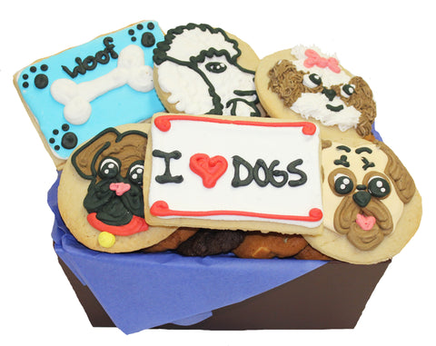 """I Love Dogs"" Cookie Basket"
