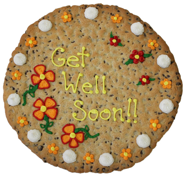 Get well soon Giant Cookie by Cookiegrams.com