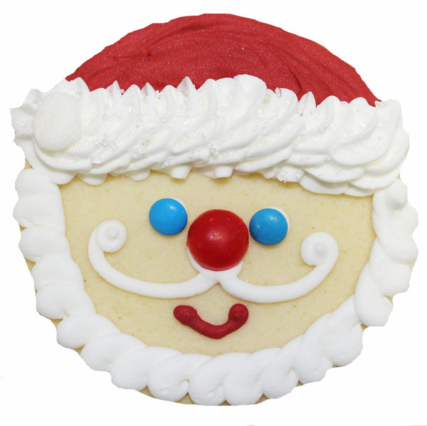 A Jolly Santa Cookie