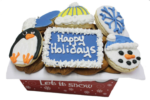 Happy Holidays Cookie Basket