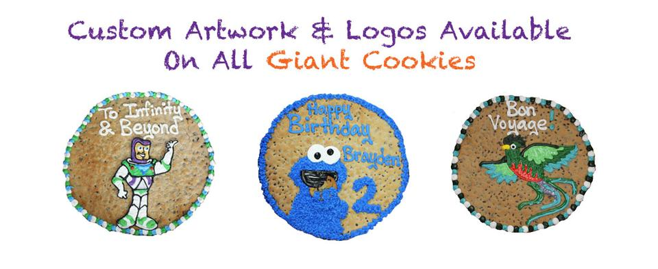 Giant Cookies with Custom Message and Art