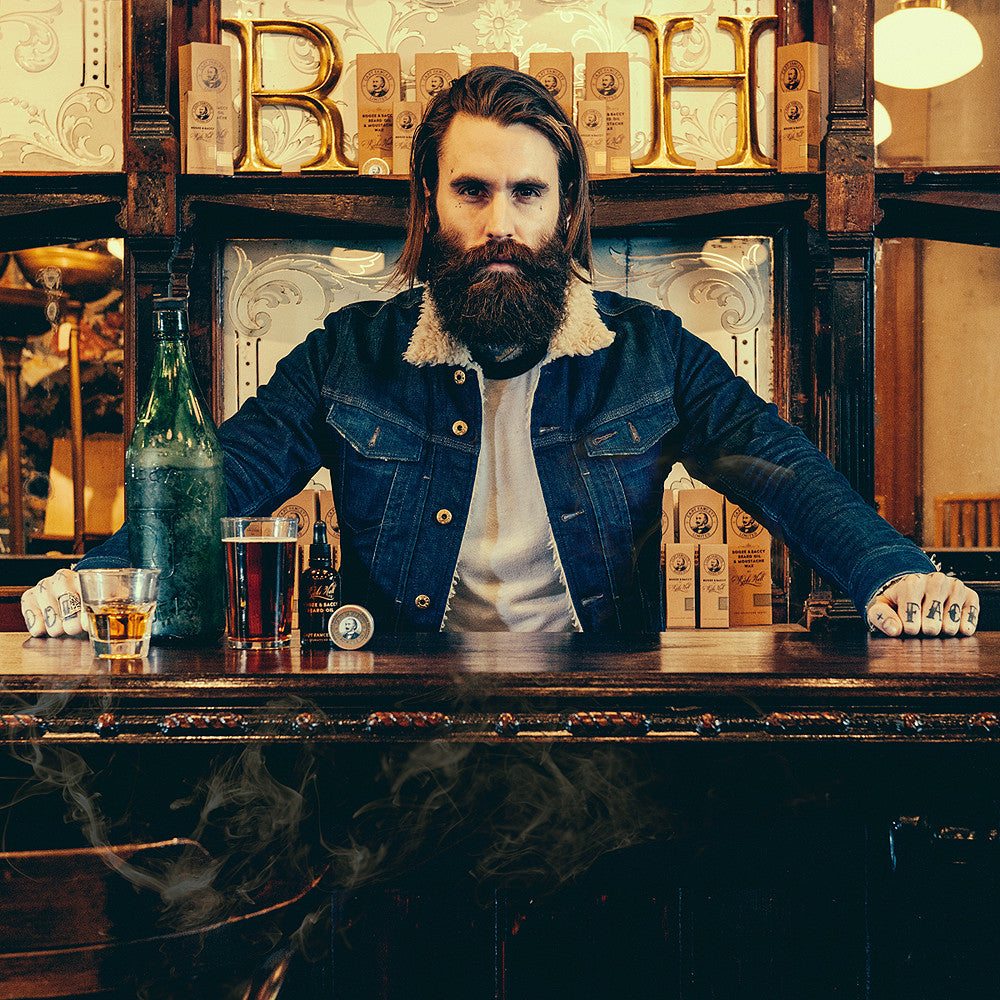 Ricki Hall Booze & Baccy Beard Oil & Moustache Wax