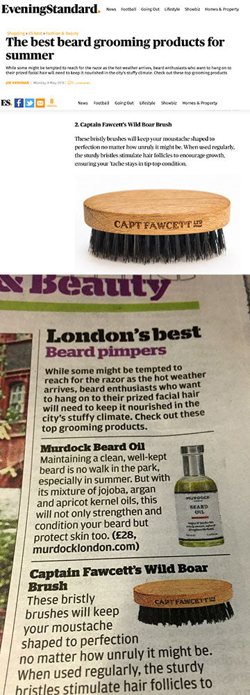 London Evening Standard & Captain Fawcett