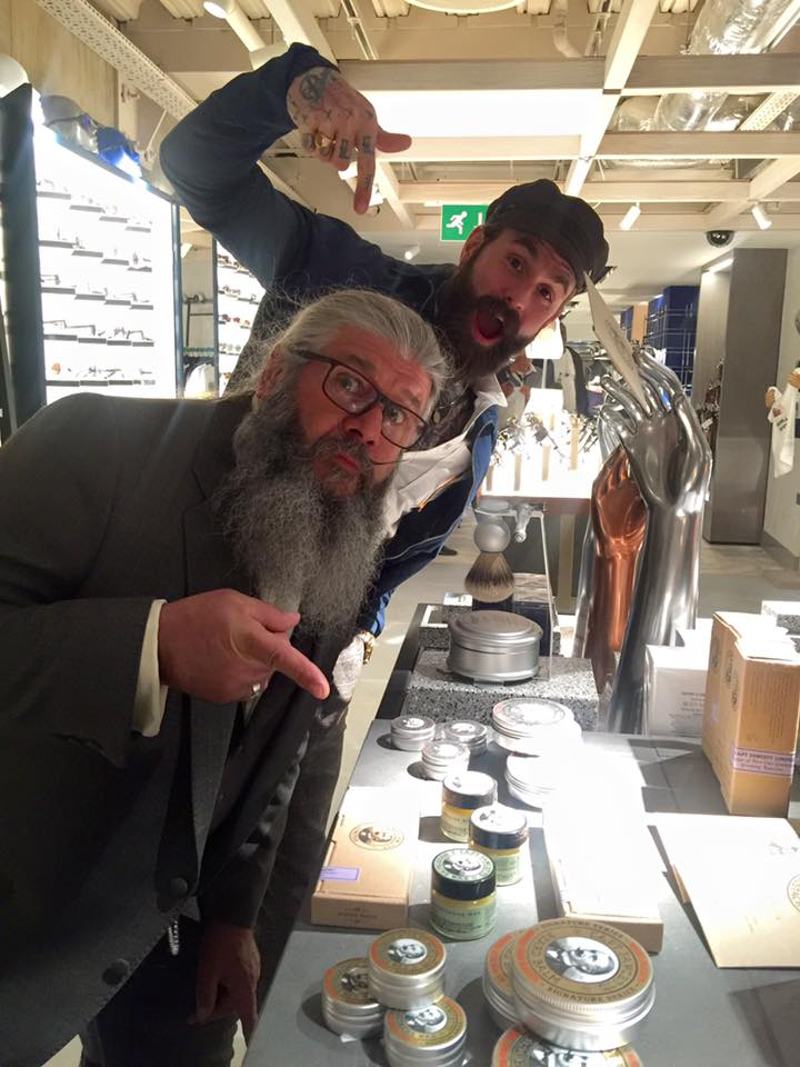 Captain Fawcett and Ricki Hall at Harvey Nichols London