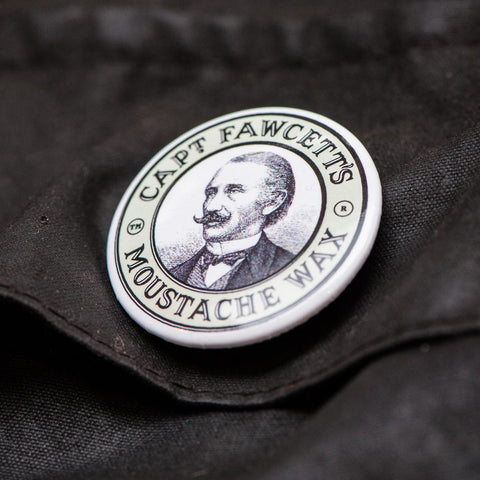 Captain Fawcett Tin Badges