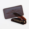 Folding Pocket Moustache Comb (CF.87T) with Leather Case