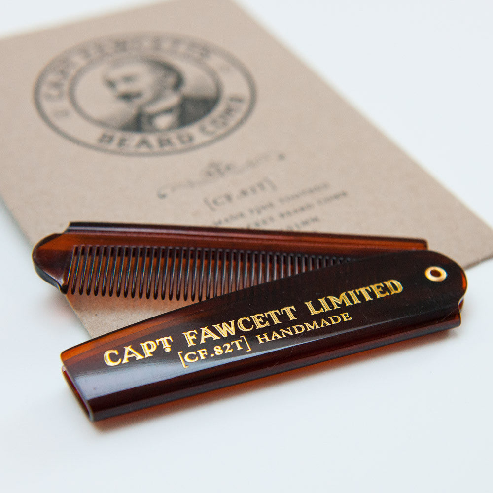 Folding Pocket Beard Comb (CF 82T) - Captain Fawcett Limited