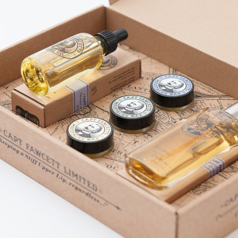 Eau De Parfum Moustache Wax Amp Beard Oil Gift Set By