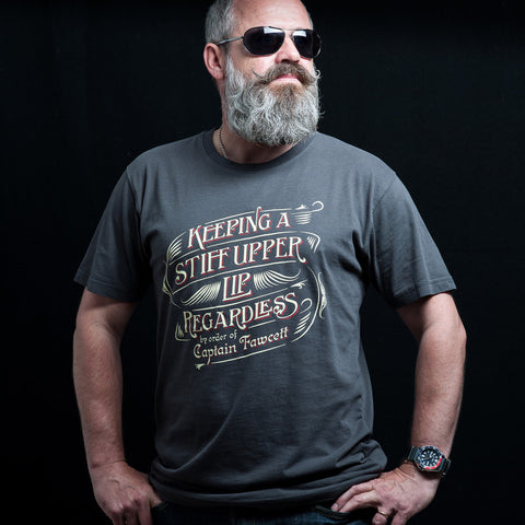 Keeping a Stiff Upper Lip Regardless T-shirt