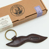 Leather Moustache Keyring (CF.91)