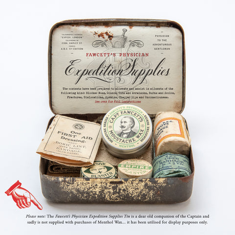 Fawcett's Physician Menthol Moustache Wax
