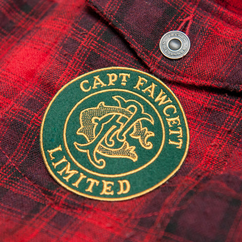 Captain Fawcett's Embroidered Felt Patch