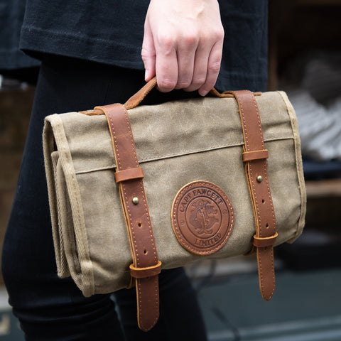 Waxed Cotton Tool Roll