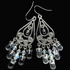 LED Chandelier Earrings — Crystal Iridescence