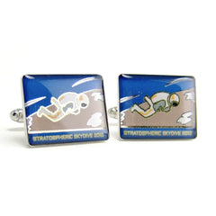 Stratospheric Skydive Cufflinks — Space Exploration Commemorative Cufflinks Collection