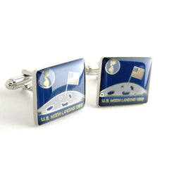 Moon Landing NASA Cufflinks — Space Exploration Commemorative Cufflinks Collection