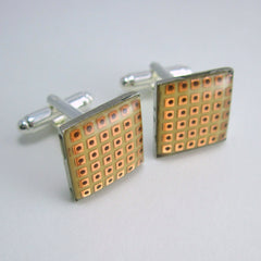 Prototyping Circuit Board Cufflinks — Copper, Domed
