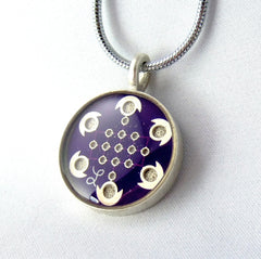 Purple Circuit Board Necklace — Beautiful Domed Tech Geekery