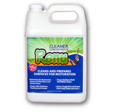 Renu Cleaner Concentrate 1 Gallon Shutterrenu