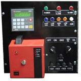 Control Panel for G-Series Burners showing PLC, Fireye control & fuel selection switches & lights