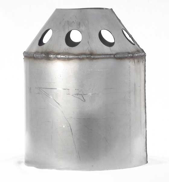 Side view of combustion cylinder